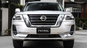 Nissan Patrol grille close-up